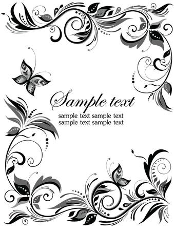 bordure floral: Fronti�re florale de mariage