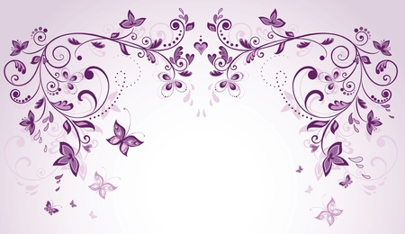 purple lilac: Wedding greeting arch