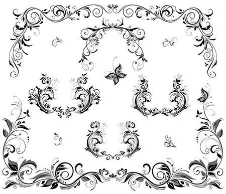 Wedding headers Vector