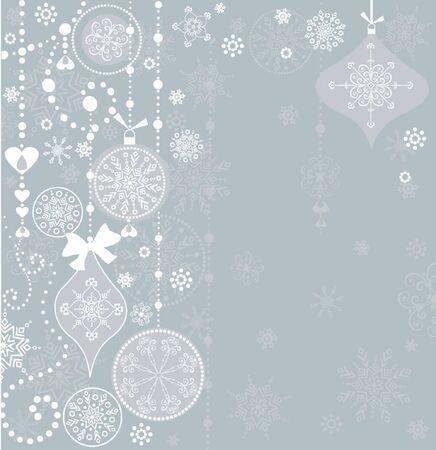 Xmas retro greeting card Vector