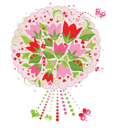 Funny greeting bouquet Stock Vector - 18944473