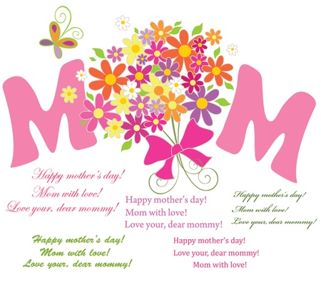 With love for mom Stock Vector - 18944532