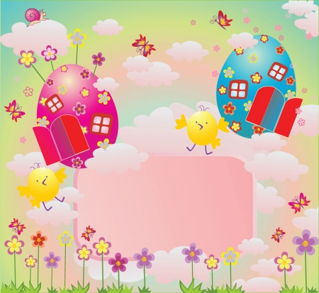 Easter card, vector illustration Vector