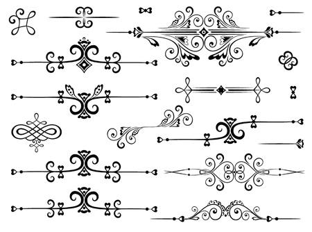 bordes decorativos: Conjunto de borde decorativo Vectores