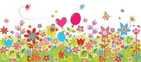 Spring colorful seamless card Vector