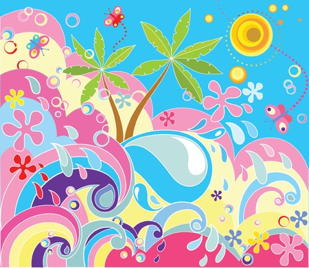 Summer holiday background Stock Vector - 18944318