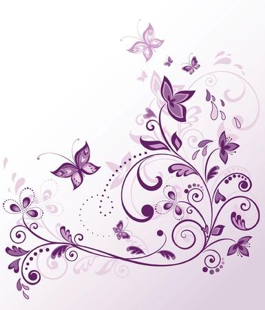 purple love: Floral violet border