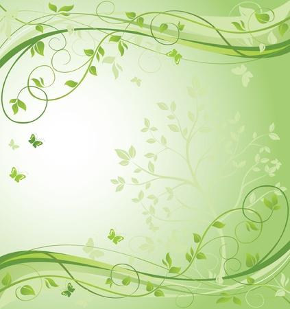 Green floral border Stock Vector - 18972899