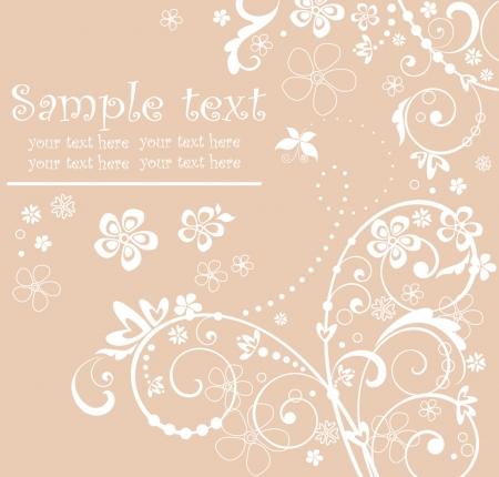 wed: Greeting pastel card Illustration