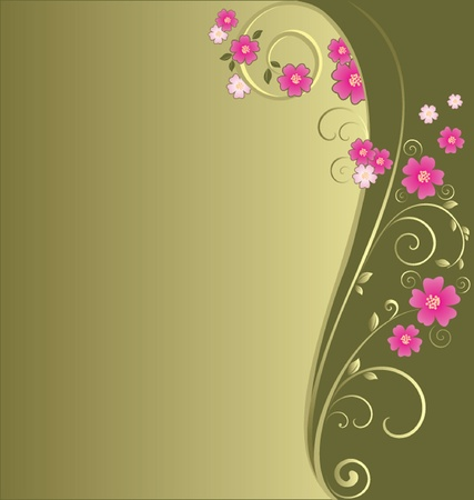 Vintage floral green background  See my gallery for more Stock Vector - 18972469