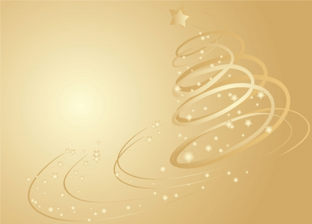Xmas gold card  See my gallery for more Stock Vector - 18972398