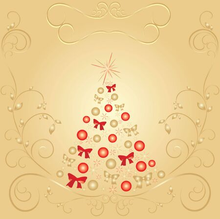 Xmas vintage card  See my gallery for more Vector