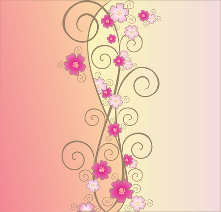 Floral background  See my gallery for more Stock Vector - 18972515