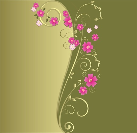 Floral green background  See my gallery for more Stock Vector - 18972480