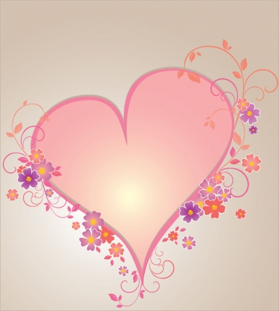 Valentine frame  See my gallery for more Stock Vector - 18972508
