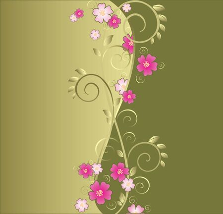Vintage floral green background  See my gallery for more Stock Vector - 18972510
