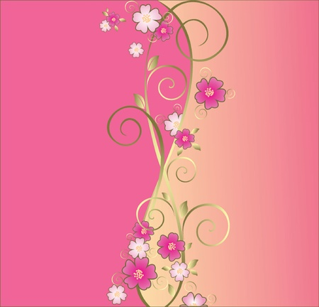 Vintage floral pink background  See my gallery for more Stock Vector - 18972489