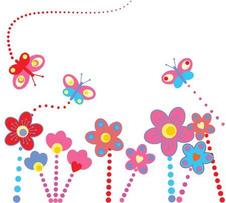 margen: Fondo floral abstracto