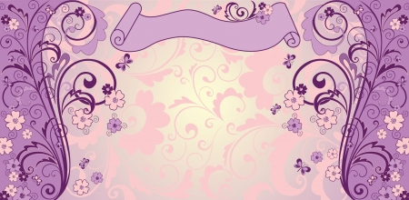 Vintage lilac background Vector