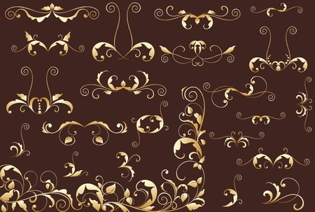 Gold floral background Stock Vector - 18972619