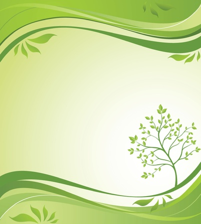 Spring background with tree Vector