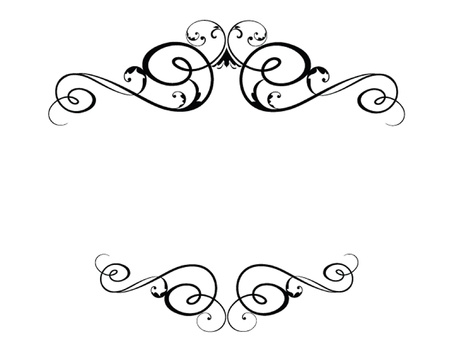 calligraphy frame: Marco negro de la vendimia