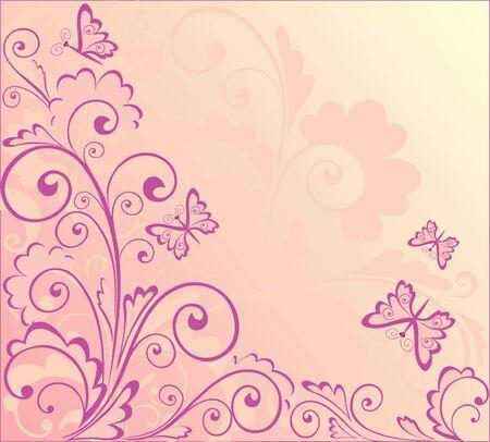 tatouage papillon: R�sum� fond rose