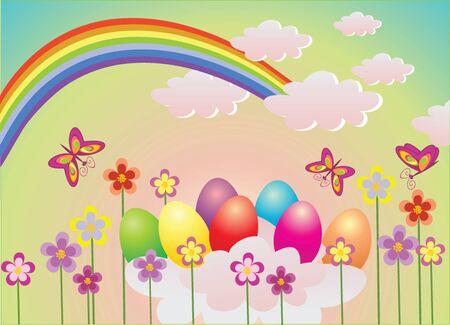 aureola: Funny Easter background