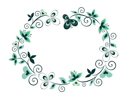 Decorative floral border Vector