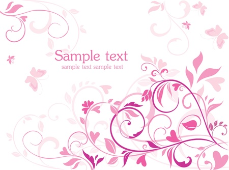 pink butterfly: Beautiful card