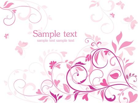 papillon rose: Belle carte