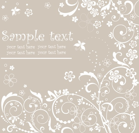 Pastel floral card Stock Vector - 18972761