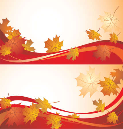 shedding: Autumnal banners Illustration
