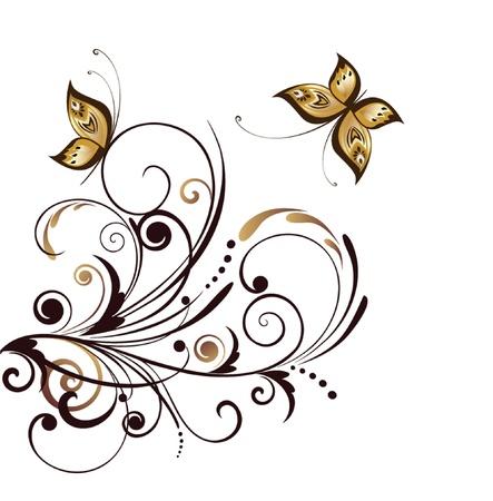 Ornate retro stencil