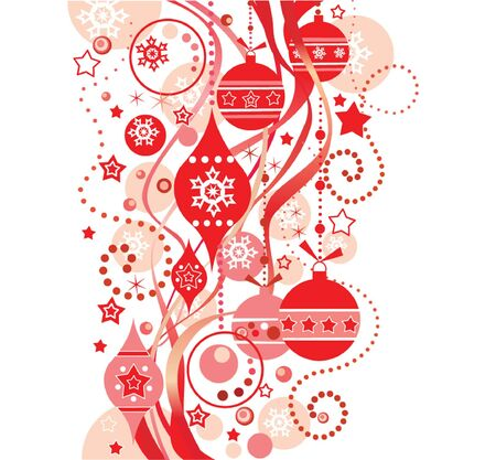 Red christmas background Stock Vector - 18972611