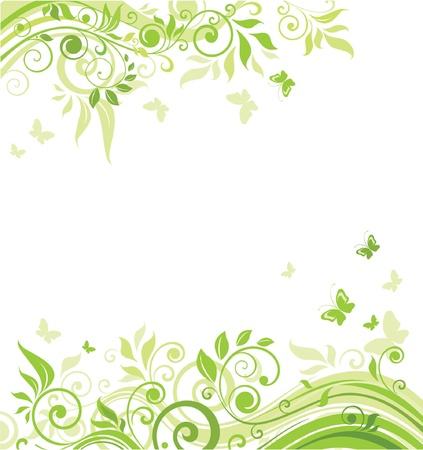 Lente groene banner