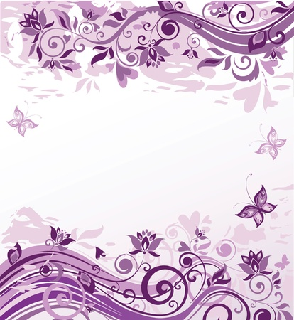 Vintage violet floral background Vector