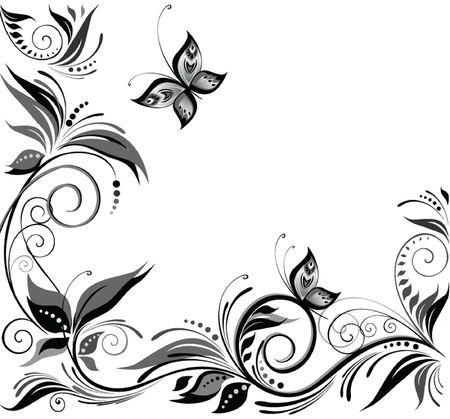 Wedding background  black and white   Vector