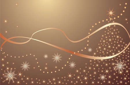 Xmas gold background Stock Vector - 18972624