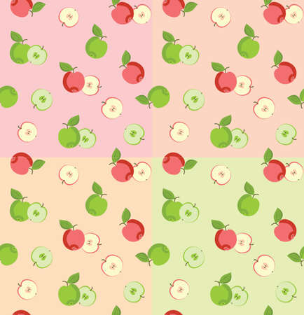 Seamless pattern with apples  Simply change Vector