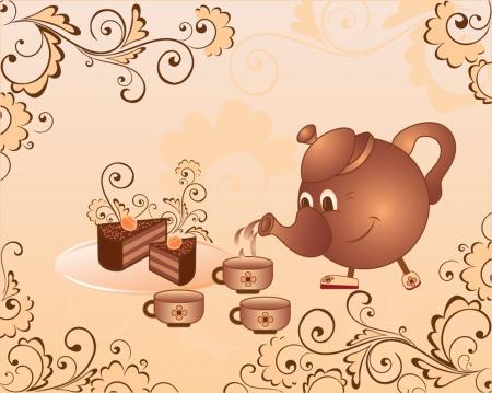 fruitcake: Tea-drinking
