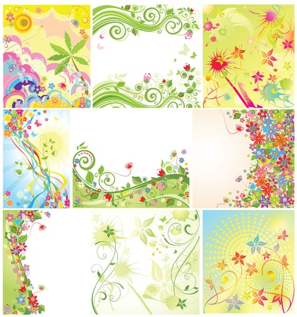 Floral holiday banner Vector