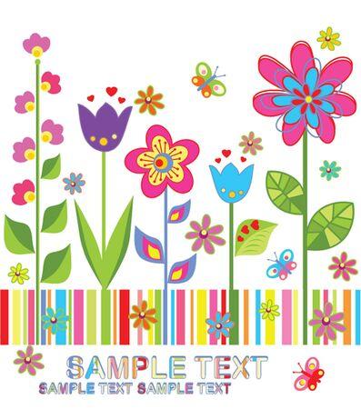 flores de cumpleaños: Tarjeta divertida