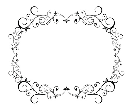 ornamented: Vintage black frame