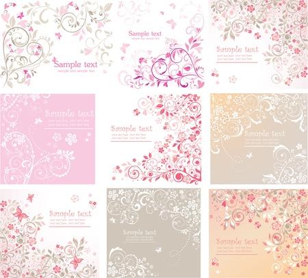 flores de cumplea�os: Vintage tarjetas florales