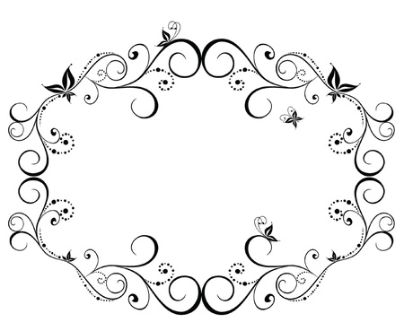 ornamented: Wedding black frame Illustration