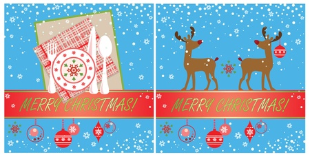 gifttag: Xmas cards Illustration
