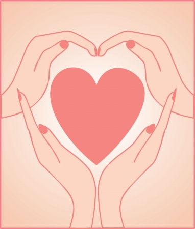 Heart with hand. See my gallery for more Vector