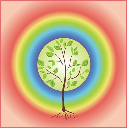 Tree with rainbow. See my gallery for more Vector