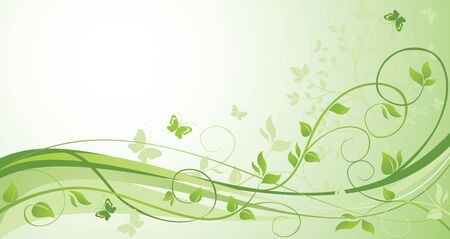 Green floral card Stock Vector - 18972703